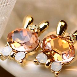 Bông tai nữ thỏ hồng thời trang hàn quốc giá sỉ 12000đ/đôi