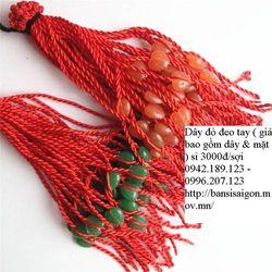 Vòng tay dây đỏ gắn tỳ hưu may mắn bình an giá bao gồm dây mặt dây giá sỉ, giá bán buôn