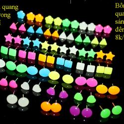 Bông tai dạ quang phát sáng trong đêm 02 giá sỉ 8k/đôi