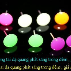 Bông tai dạ quang phát sáng trong đêm 01 giá sỉ 8k/đôi