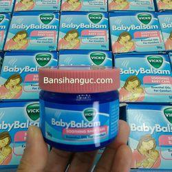 Dầu bôi giữ ấm giảm ho cho trẻ Vicks Baby Balsam của Úc giá sỉ