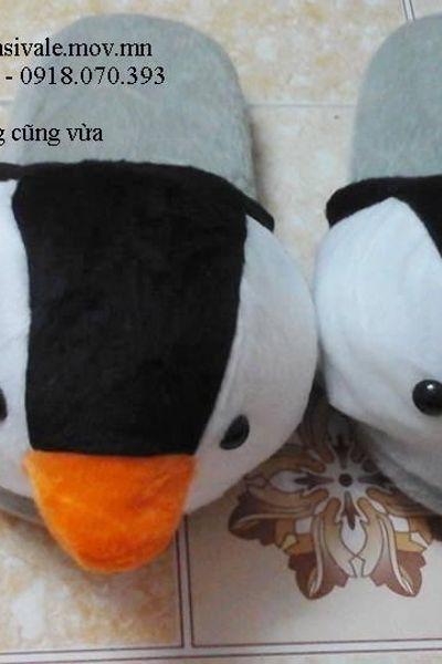 Dép bông hình thú đi trong nhà cho nam cánh cụt - dài 26cm - rộng 10cm giá sỉ, giá bán buôn