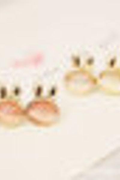 Khuyên tai nữ đá mắt mèo hình thỏ con đáng yêu mẫu hàn quốc ms 103 giá sỉ, giá bán buôn