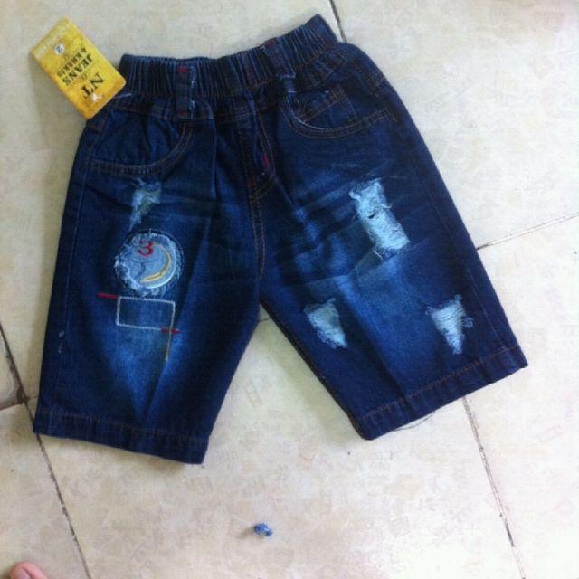 Quần lửng jean bé trai size 1-20