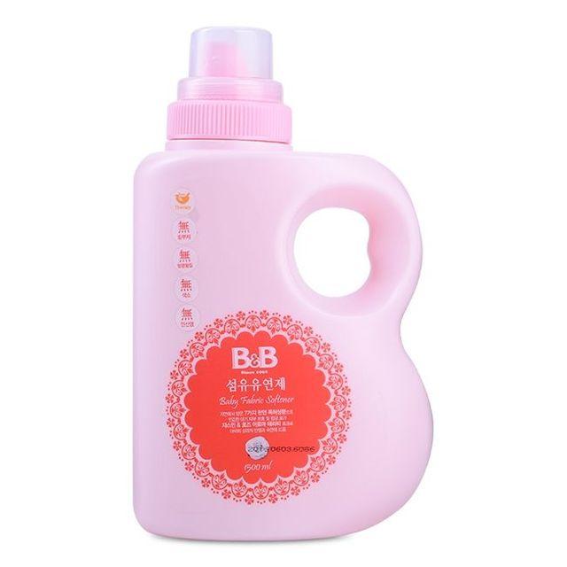 Chai nước xả vải dành cho em bé hương nhài bb baby fabric softener jasmine bottle 1500ml giá sỉ, giá bán buôn