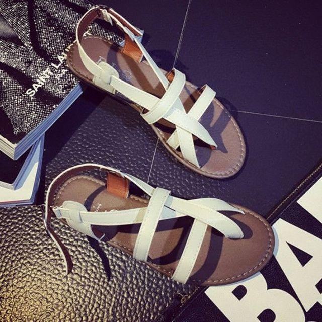 Giày sandal chéo 2 dây ngang
