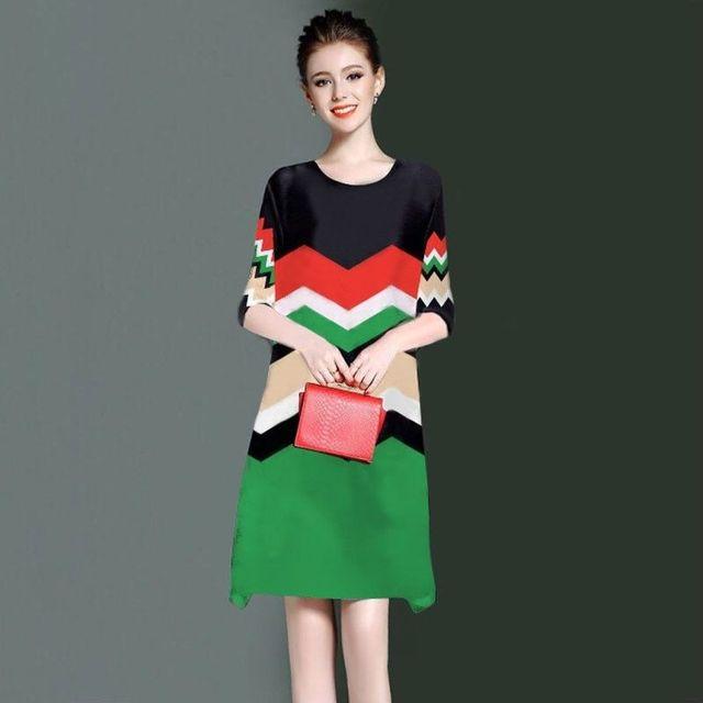 Đầm suông cao cấp in 3d ziczac có size xxxl