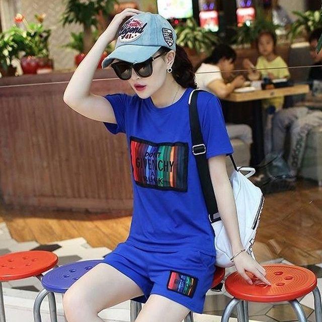 Bộ short Thể Thao Color Cam - giá sỉ, giá tốt