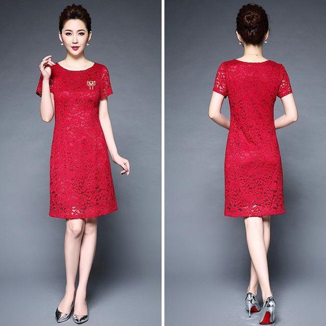 Đầm ren dự tiệc Cherry đen đính phụ kiện cài áo thời trang - giá sỉ, giá tốt