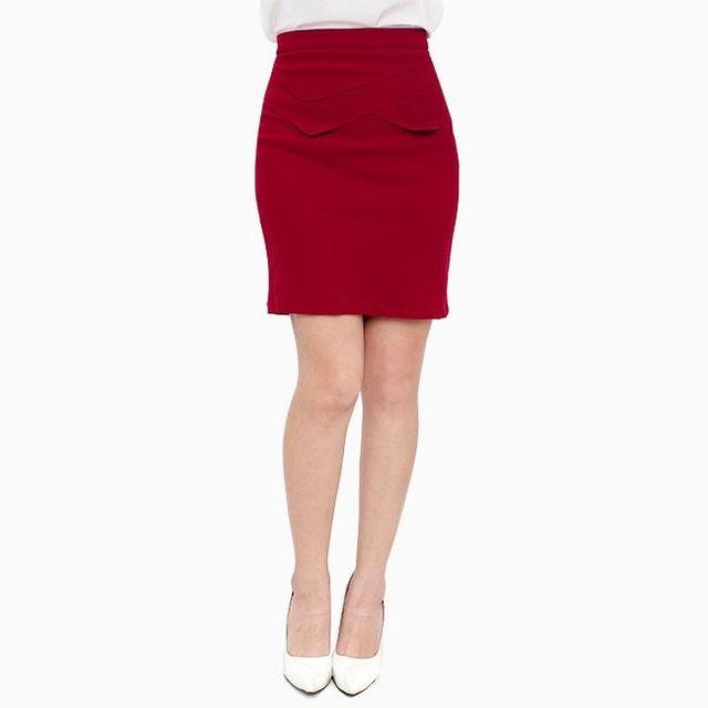 Chân váy công sở phối lưng vạt xéo