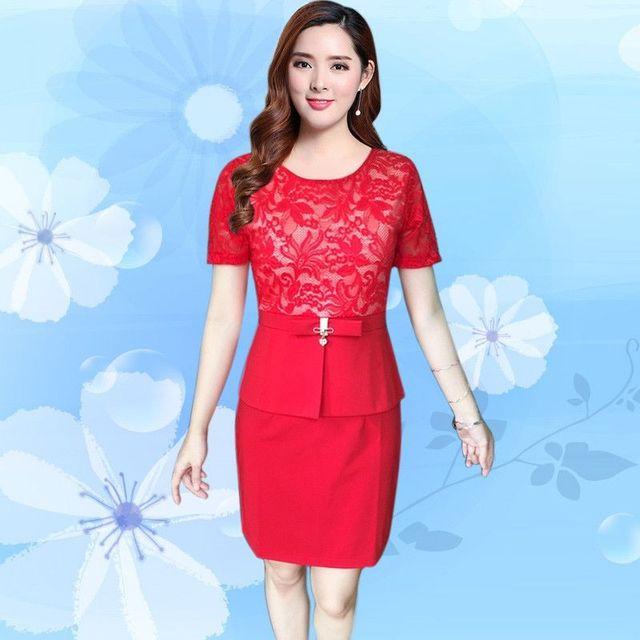 Đầm Ren Dự Tiệc Peplum Đỏ Cao Cấp  - giá sỉ, giá tốt