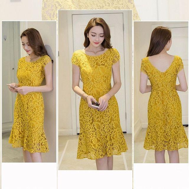Đầm Ren Đuôi Cá Tím Cao Cấp Tay Con Sunshine - giá sỉ, giá tốt