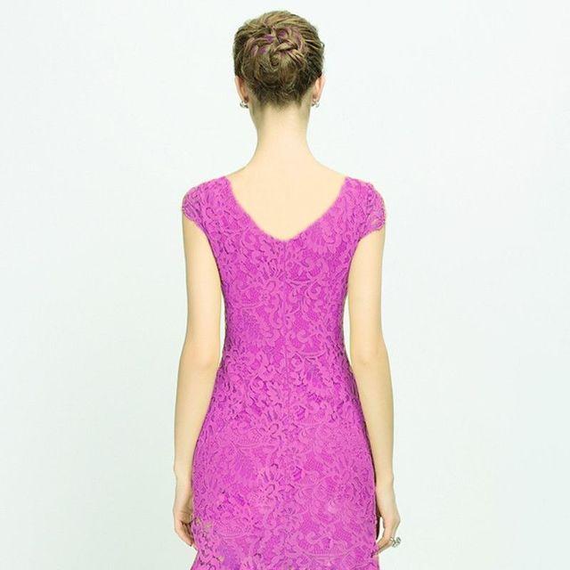 Đầm Ren Đuôi Cá SunshineTay Con TímCao Cấp - giá sỉ, giá tốt