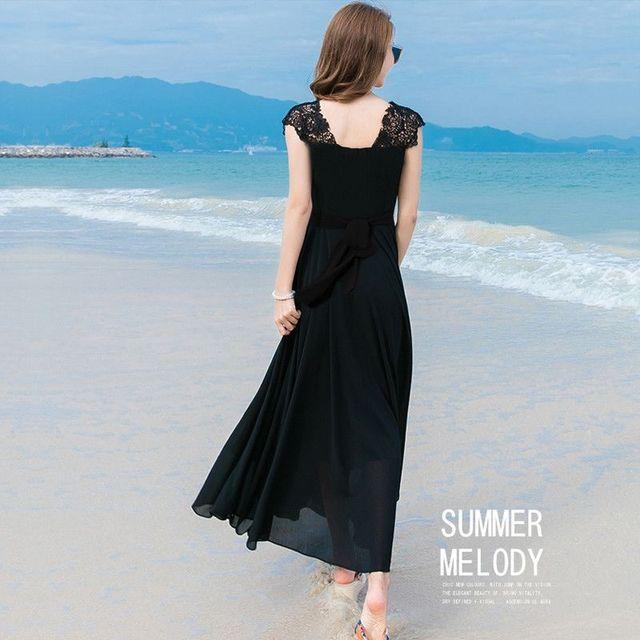 Đầm maxi cao cấp tay ren Haraku - giá sỉ, giá tốt