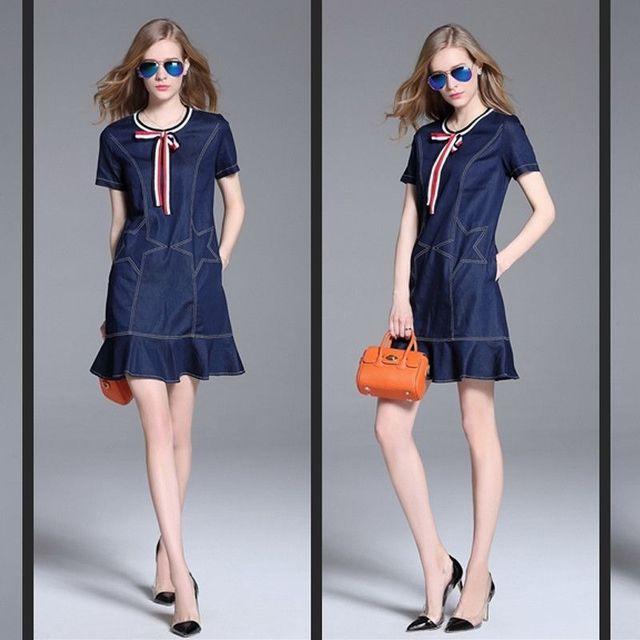 Đầm Jean Đuôi Cá Ngôi Sao Hollywood - giá sỉ, giá tốt