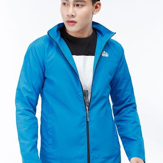 Áo khoác dù 2 lớp màu xanh dương