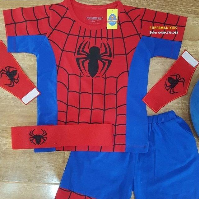 Quần áo siêu nhân nhện ngắn