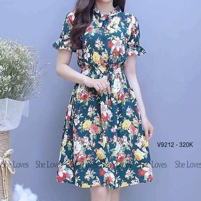 Đầm hoa in 3D HA08497