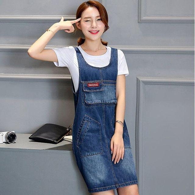 Đầm Jean Yếm Phối Túi Original - giá sỉ, giá tốt