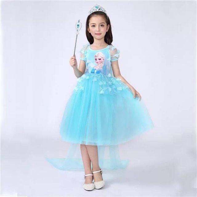 Đầm công chúa tay dài phối ren