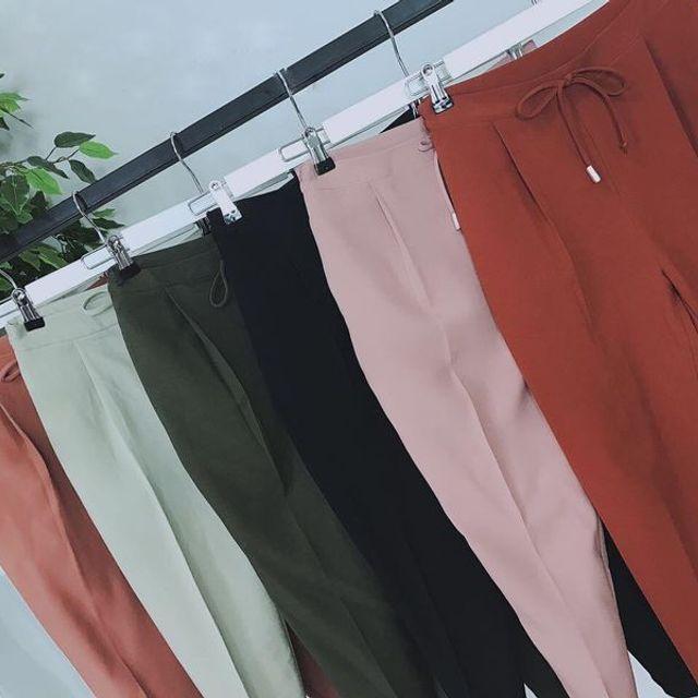 quần baggy màu cotton