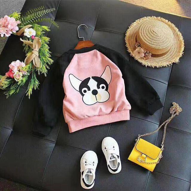 Áo khoác hồng cún con