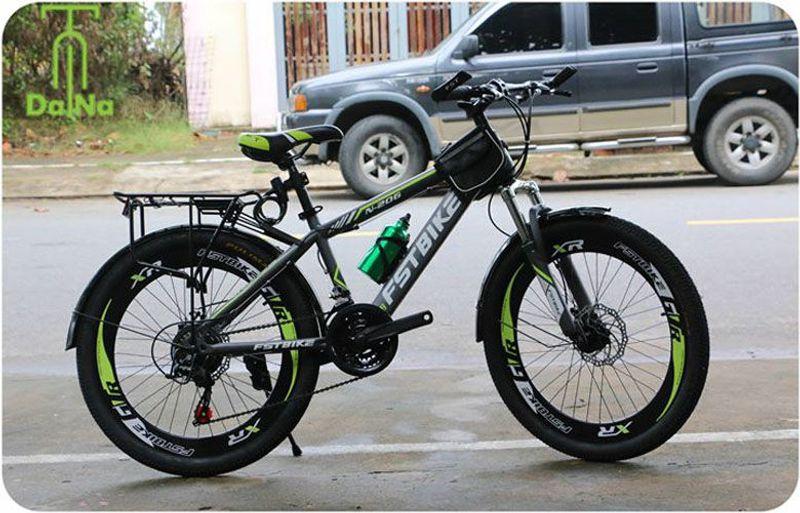 xe đạp địa hình FST N206 màu xanh chuối giá sỉ, giá bán buôn