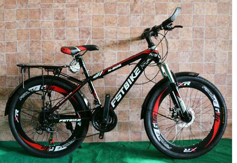 xe đạp địa hình FST N206 màu đỏ giá sỉ, giá bán buôn