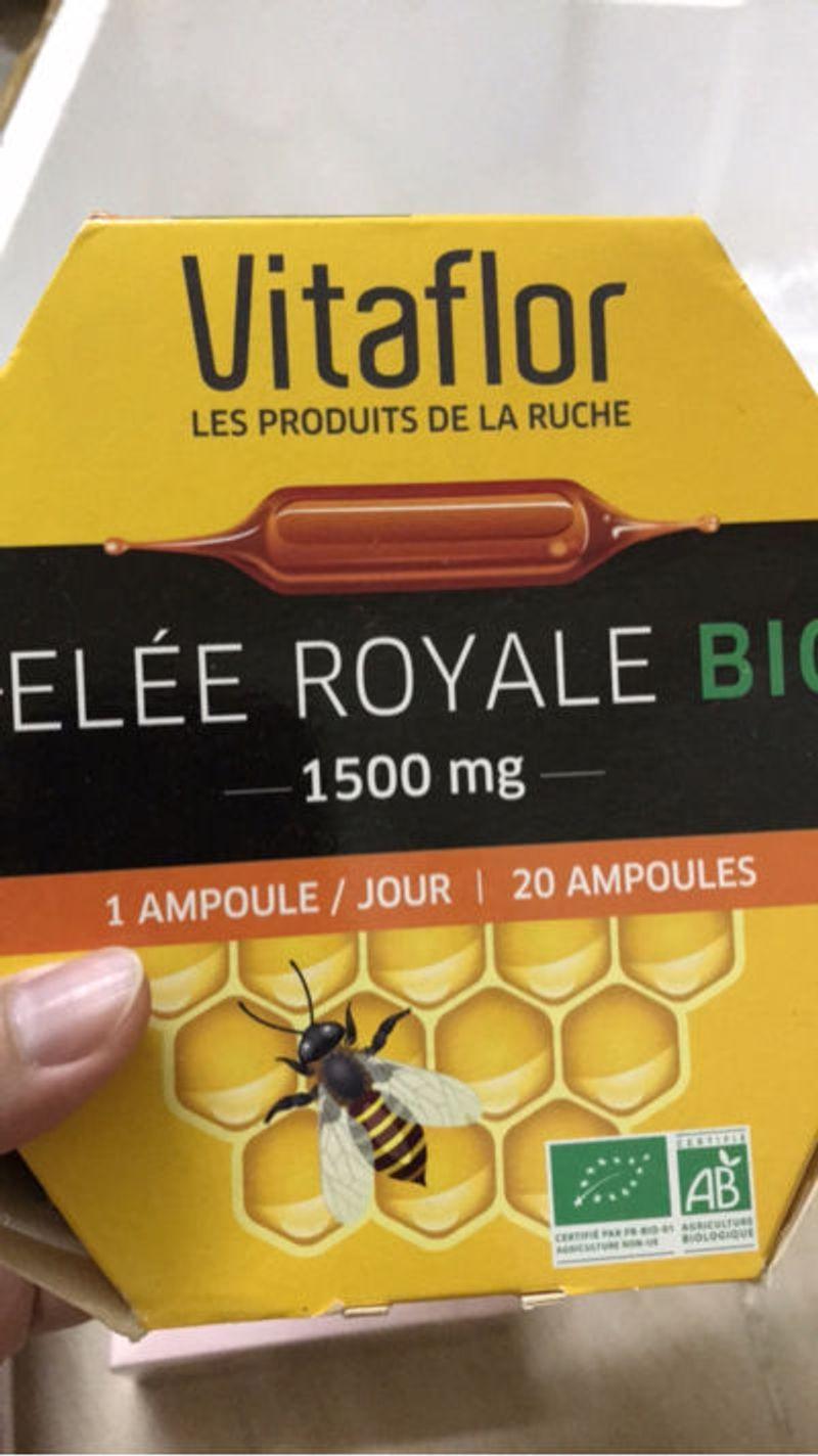 Sữa ong chúa Vitaflor Bio 1500mg 20 ống của Pháp giá sỉ, giá bán buôn