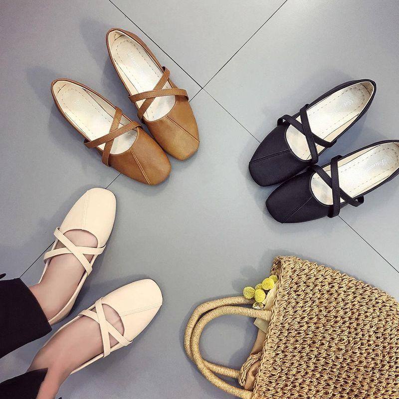 Giày búp bê vintage dây chéo giá sỉ, giá bán buôn