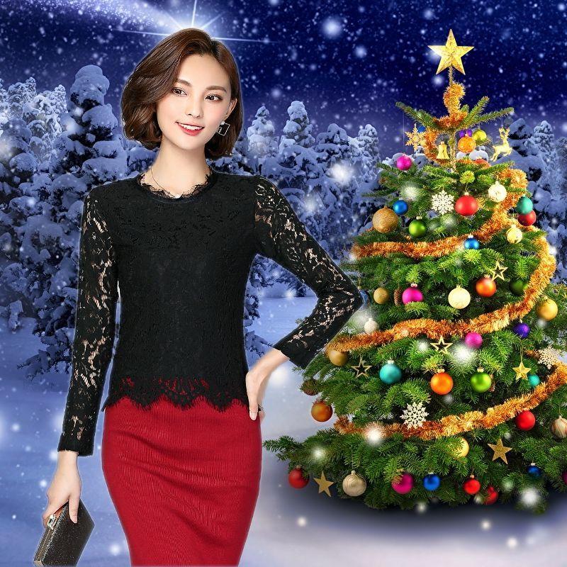 Áo Ren Mi Đen Tay Dài Noel - giá sỉ, giá bán buôn
