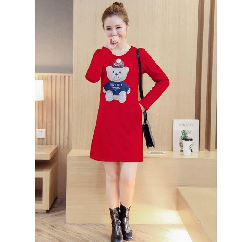 Đầm Đen tay dài gấu bông xù Boom - giá sỉ, giá bán buôn