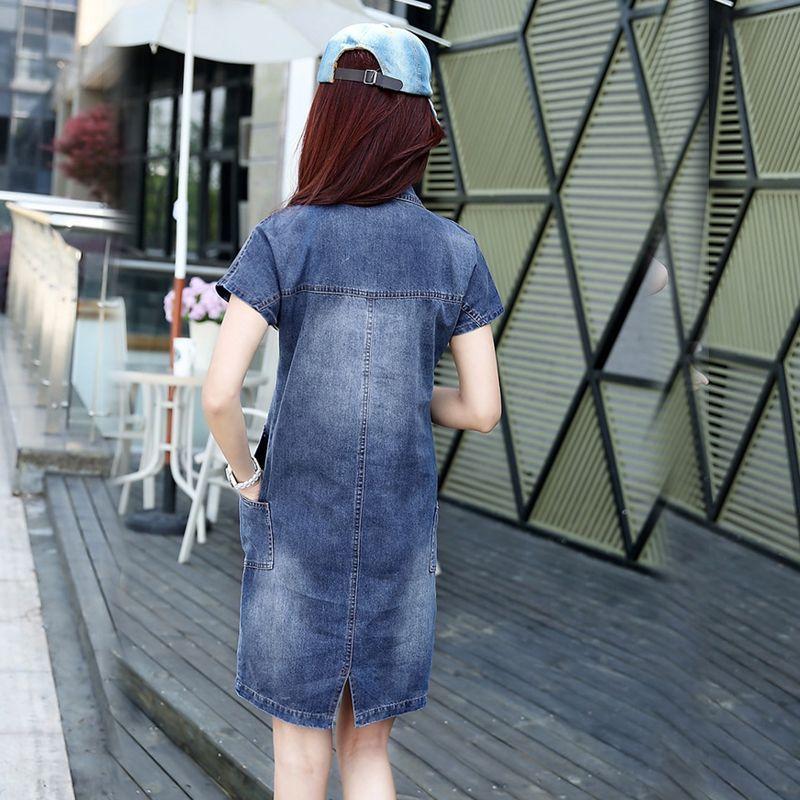 Đầm Jean Suông Cổ Sơ Mi Thời Trang - giá sỉ, giá bán buôn
