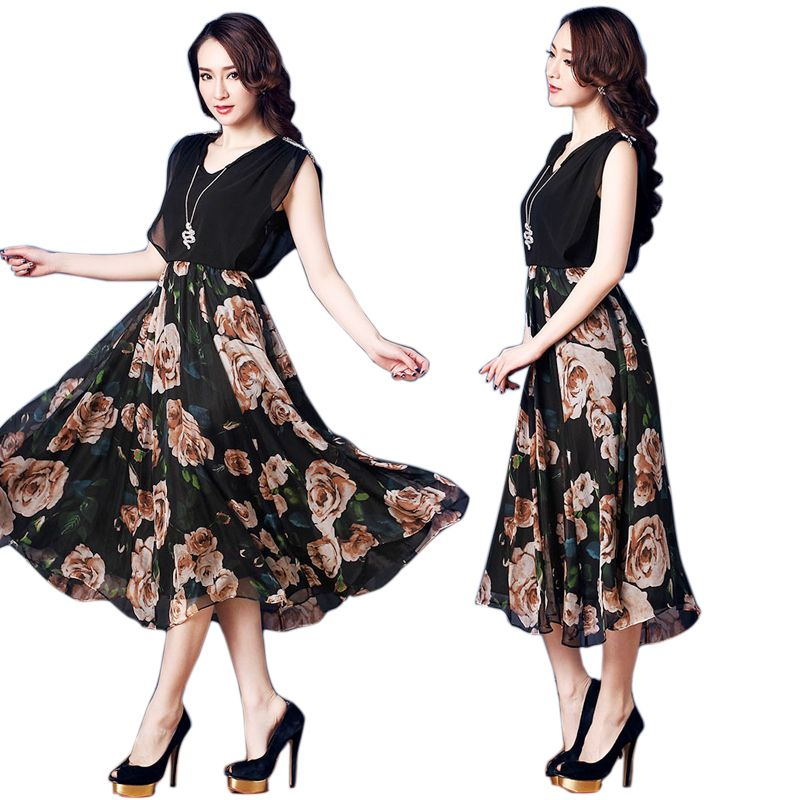Đầm Maxi Luxury Rose Đính Đá Vai - giá sỉ, giá bán buôn