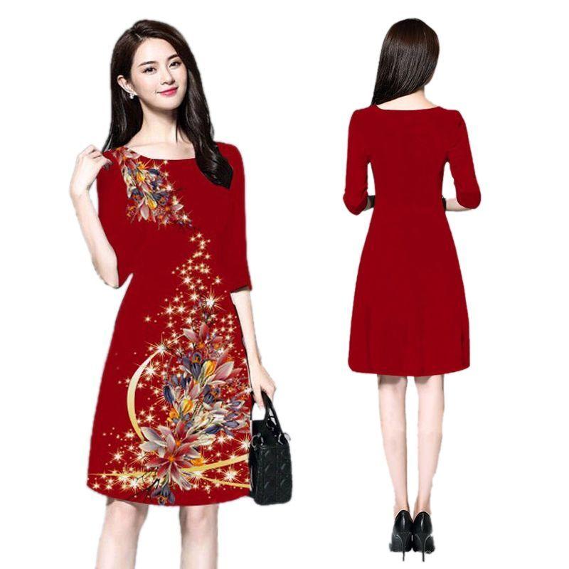Đầm suông in 3D họa tiết Phoenix Star Rose - giá sỉ, giá bán buôn
