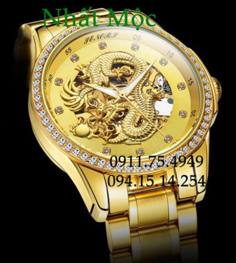 Đồng hồ mặt rồng vàng 3D uy quyền đẳng cấp doanh nhân giá sỉ, giá bán buôn