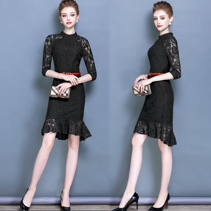 Đầm ren đuôi cá kiểu yếm tay lỡ - giá sỉ, giá bán buôn