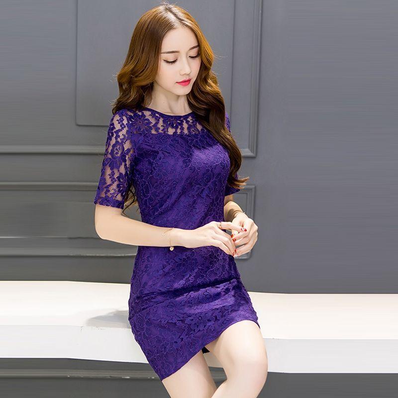 Đầm ren tím Purple - giá sỉ, giá bán buôn