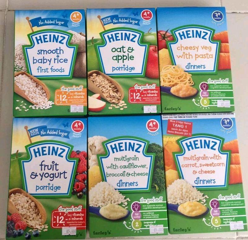 Bột ăn dặm Heinz với dưỡng chất thiết yếu