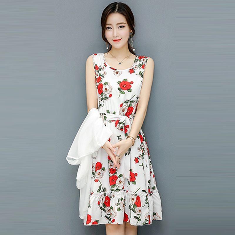 Đầm Xòe Vintage Đen Hoa Mùa Xuân 2 tầng - giá sỉ, giá bán buôn