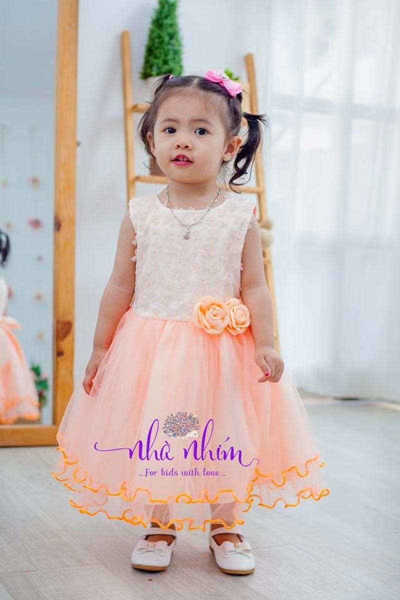 Đầm xòe công chúa cho bé giá sỉ, giá bán buôn