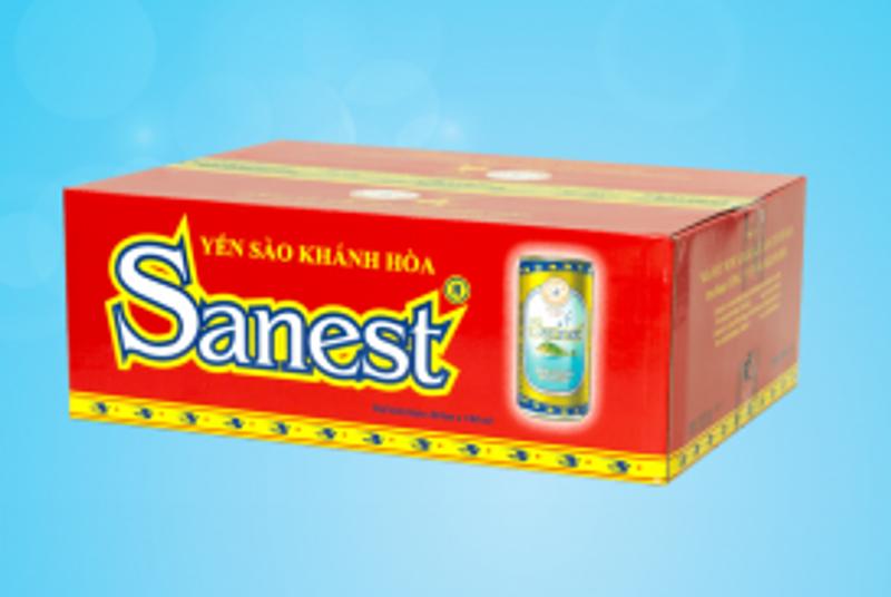 Nước yến sào Sanest - Thùng 30 lon Có Đường giá sỉ, giá bán buôn