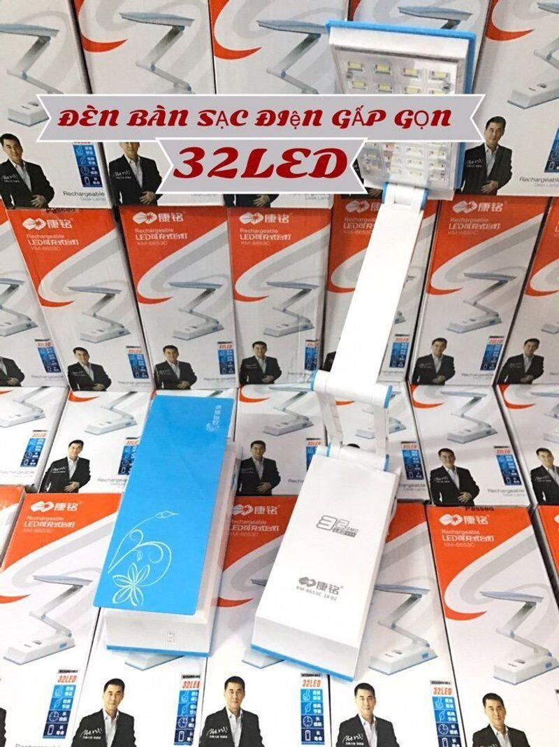 ĐÈN BÀN SẠC ĐIỆN GẤP GỌN 32 LED giá sỉ, giá bán buôn