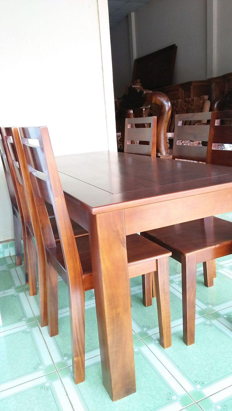 Bộ bàn ăn tràm 6 ghế giá sỉ, giá bán buôn