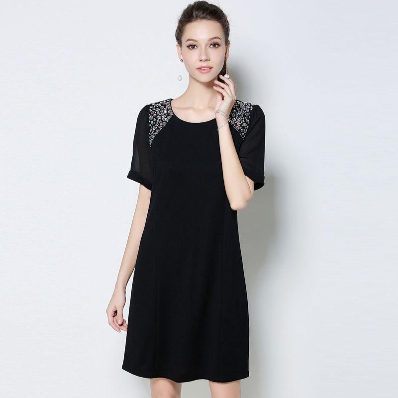 Đầm Đen Phối Voan Tay Form Rộng giá sỉ, giá bán buôn