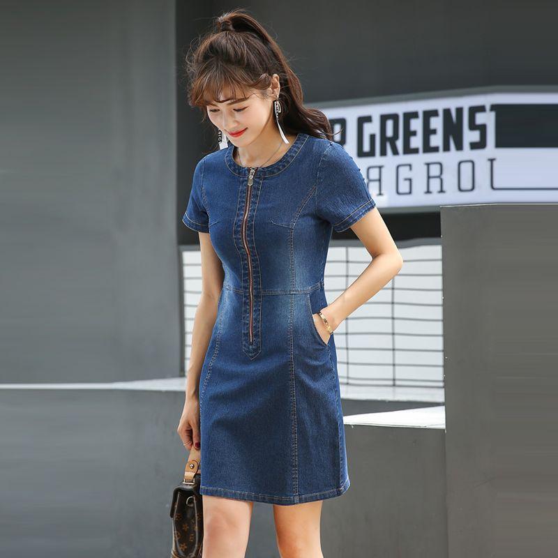 Đầm jean dây kéo trướcphối túi giá sỉ, giá bán buôn