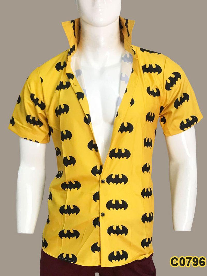 Áo sơ mi nam tay ngắn in họa tiết Batman - C0796 giá sỉ, giá bán buôn