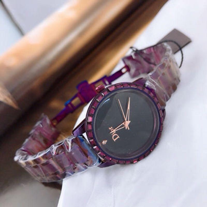 đồng hồ trung cấp màu tím giá sỉ, giá bán buôn