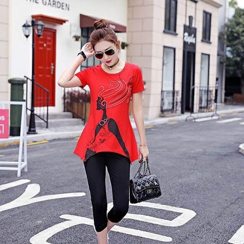 Set bộ lửng đỏ form dài cô gái giá sỉ, giá bán buôn