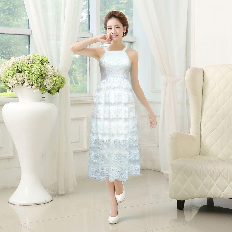 Đầm ren trắng maxi Dawn giá sỉ, giá bán buôn